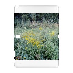 Yellow Flowers, Green Grass Nature Pattern Samsung Galaxy Note 10.1 (P600) Hardshell Case