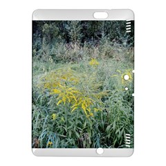 Yellow Flowers, Green Grass Nature Pattern Kindle Fire HDX 8.9  Hardshell Case