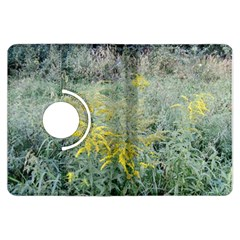 Yellow Flowers, Green Grass Nature Pattern Kindle Fire HDX Flip 360 Case