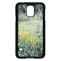 Yellow Flowers, Green Grass Nature Pattern Samsung Galaxy S5 Case (Black)
