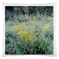 Yellow Flowers, Green Grass Nature Pattern Standard Flano Cushion Case (One Side)