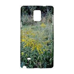 Yellow Flowers, Green Grass Nature Pattern Samsung Galaxy Note 4 Hardshell Case