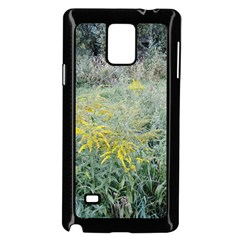 Yellow Flowers, Green Grass Nature Pattern Samsung Galaxy Note 4 Case (black)