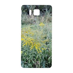 Yellow Flowers, Green Grass Nature Pattern Samsung Galaxy Alpha Hardshell Back Case