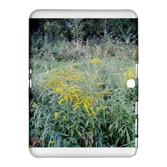 Yellow Flowers, Green Grass Nature Pattern Samsung Galaxy Tab 4 (10.1 ) Hardshell Case