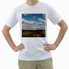 Rural Landscape Men s Two-sided T-shirt (White)
