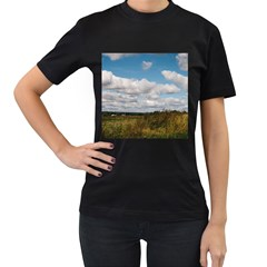 Rural Landscape Women s Two Sided T-shirt (Black)
