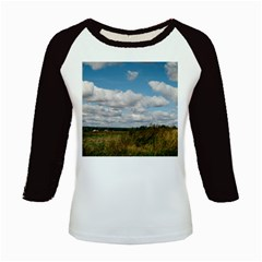 Rural Landscape Kids Long Cap Sleeve T-Shirt