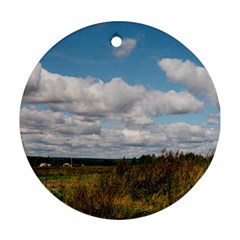 Rural Landscape Round Ornament (two Sides)
