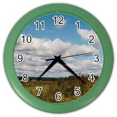 Rural Landscape Wall Clock (color)