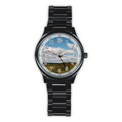 Rural Landscape Sport Metal Watch (black)
