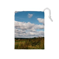 Rural Landscape Drawstring Pouch (medium)