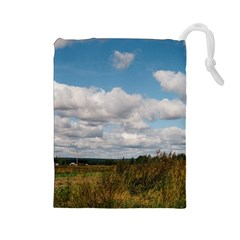 Rural Landscape Drawstring Pouch (Large)