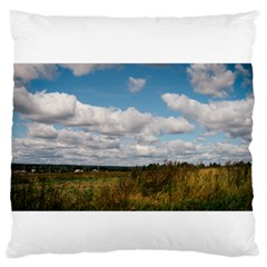 Rural Landscape Large Flano Cushion Case (One Side)