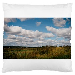 Rural Landscape Large Flano Cushion Case (Two Sides)