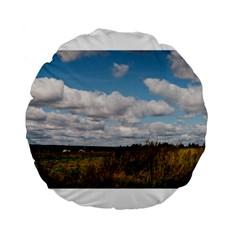 Rural Landscape Standard 15  Premium Flano Round Cushion