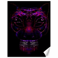 Creepy Cat Mask Portrait Print Canvas 12  X 16  (unframed)