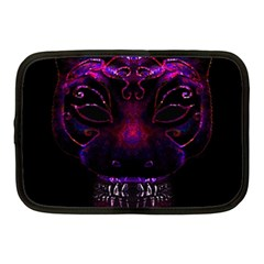 Creepy Cat Mask Portrait Print Netbook Sleeve (medium)