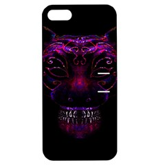 Creepy Cat Mask Portrait Print Apple Iphone 5 Hardshell Case With Stand