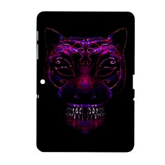 Creepy Cat Mask Portrait Print Samsung Galaxy Tab 2 (10 1 ) P5100 Hardshell Case