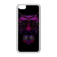 Creepy Cat Mask Portrait Print Apple Iphone 5c Seamless Case (white)