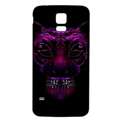 Creepy Cat Mask Portrait Print Samsung Galaxy S5 Back Case (White)