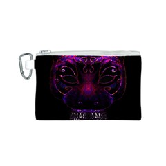 Creepy Cat Mask Portrait Print Canvas Cosmetic Bag (Small)