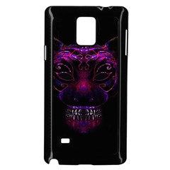 Creepy Cat Mask Portrait Print Samsung Galaxy Note 4 Case (Black)