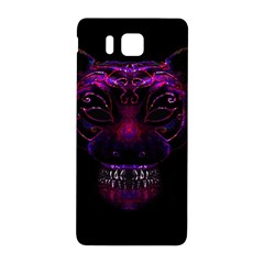 Creepy Cat Mask Portrait Print Samsung Galaxy Alpha Hardshell Back Case