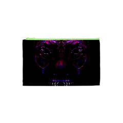 Creepy Cat Mask Portrait Print Cosmetic Bag (XS)