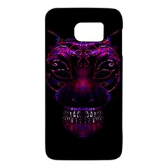 Creepy Cat Mask Portrait Print Samsung Galaxy S6 Hardshell Case