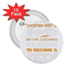 Howarts Letter 2 25  Button (10 Pack)