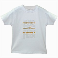 Howarts Letter Kids T Shirt (white)