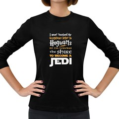 Howarts Letter Women s Long Sleeve T Shirt (dark Colored)