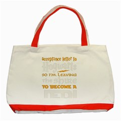 Howarts Letter Classic Tote Bag (red)