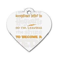 Howarts Letter Dog Tag Heart (one Sided)
