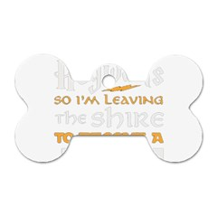 Howarts Letter Dog Tag Bone (two Sided)