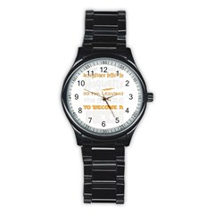 Howarts Letter Sport Metal Watch (black)