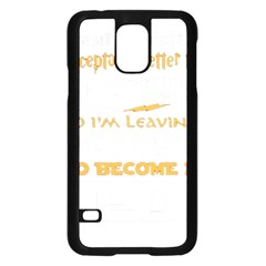 Howarts Letter Samsung Galaxy S5 Case (Black)