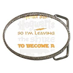 Howarts Letter Belt Buckle (oval)