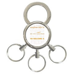 Howarts Letter 3 Ring Key Chain