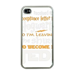 Howarts Letter Apple Iphone 4 Case (clear)