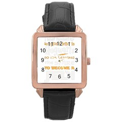 Howarts Letter Rose Gold Leather Watch