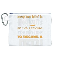 Howarts Letter Canvas Cosmetic Bag (XL)