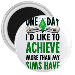 Sims 3  Button Magnet