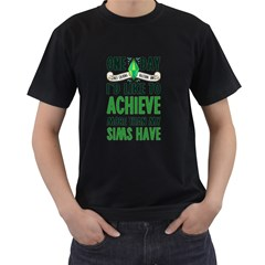 Sims Men s Two Sided T Shirt (black)