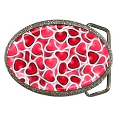 Candy Hearts Belt Buckle (oval)