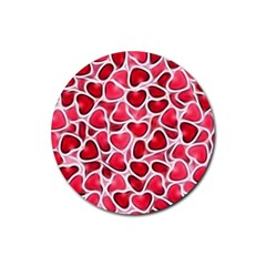 Candy Hearts Drink Coasters 4 Pack (round)