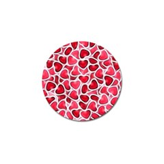 Candy Hearts Golf Ball Marker
