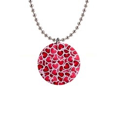 Candy Hearts Button Necklace